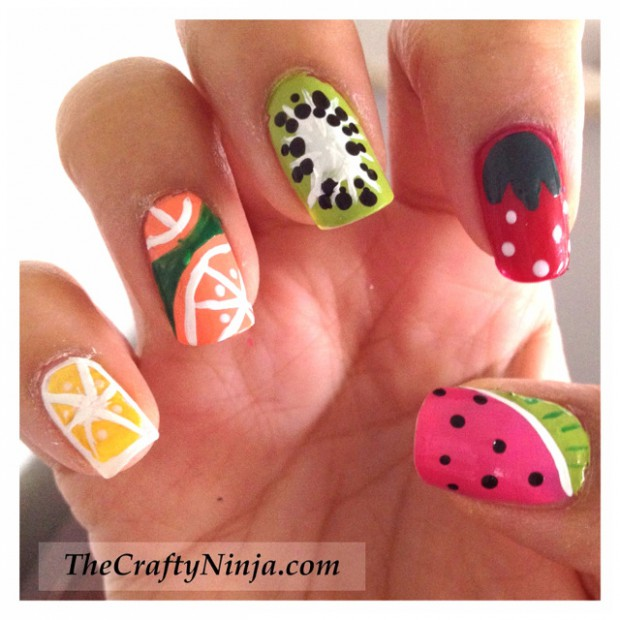 Cute Fruit Nails for Spring and Summer  18 Adorable Ideas