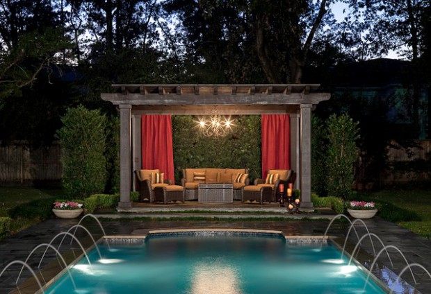 Pool area 20 outstanding gazebo design ideas for relaxing for Pool design with gazebo