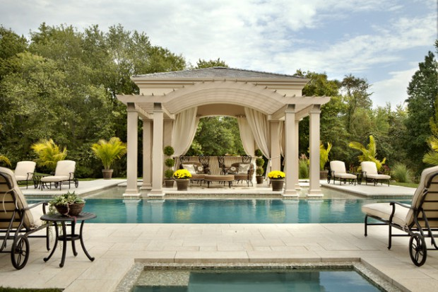 Pool Area  20 Outstanding Gazebo Design Ideas for Relaxing in Style