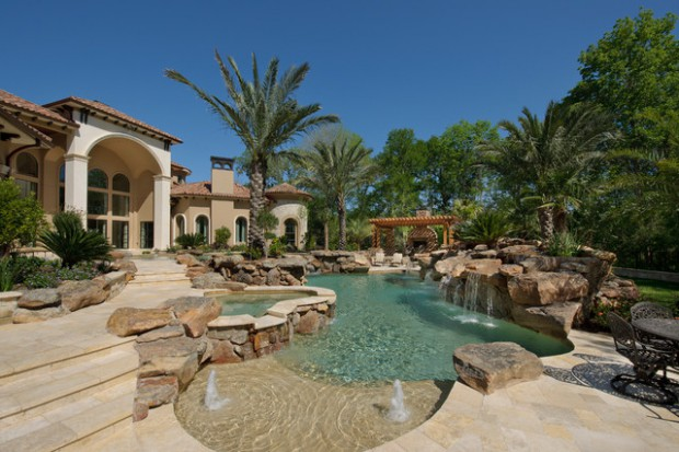 Landscaping Backyard Oasis- 18 Pool Design Ideas in Mediterranean ...