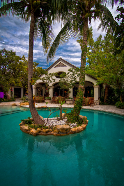 Mediterranean Style Backyard With Pool :  Backyard Oasis 18 Pool Design Ideas in Mediterranean Style  Style