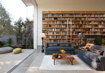 20 Remarkable Living Room Library Design Ideas - living room library, living room design ideas, Living room, library, Home library