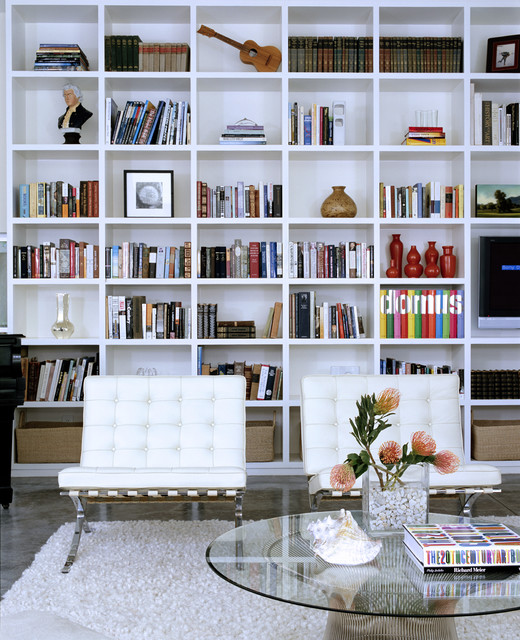 20 Remarkable Living Room Library Design Ideas