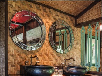Crazy for Country: Americana Bathroom Design Ideas - wallpaper, vintage, interior design, home decor, country, bathroom
