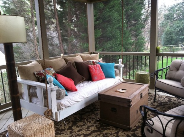 17 Hanging Bed Swing Design Ideas for Your Porch or Patio