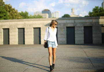 Boyfriend Shorts: Style Tips + 16 Edgy Outfit Ideas - shorts outfit ideas, Shorts, outfits, Outfit ideas, outfit idea, outfit, fashion, boyfriend shorts, boyfriend