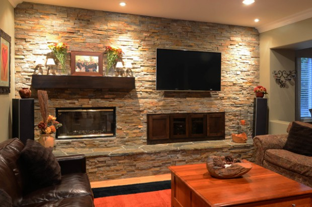Living Room Ideas Stone Wall Smartpersoneelsdossier