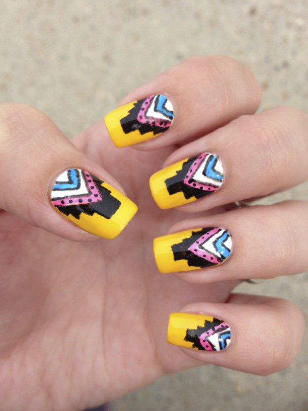 Tribal for Summer  20 Interesting Nail Art Ideas You Will Love