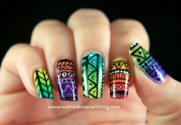 Tribal for Summer- 20 Interesting Nail Art Ideas You Will Love - tribal prints, tribal nail art, tribal, summer nail art, Nail Art