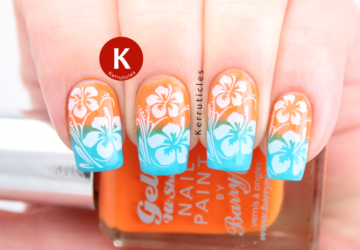 Tropical Nail Art for Adorable Summer Nails – 16 Gorgeous Ideas - tropical print, tropical nail art, summer nail design, summer nail art
