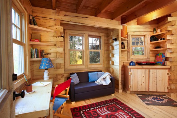21 Rustic Log Cabin Interior Design Ideas Part 47