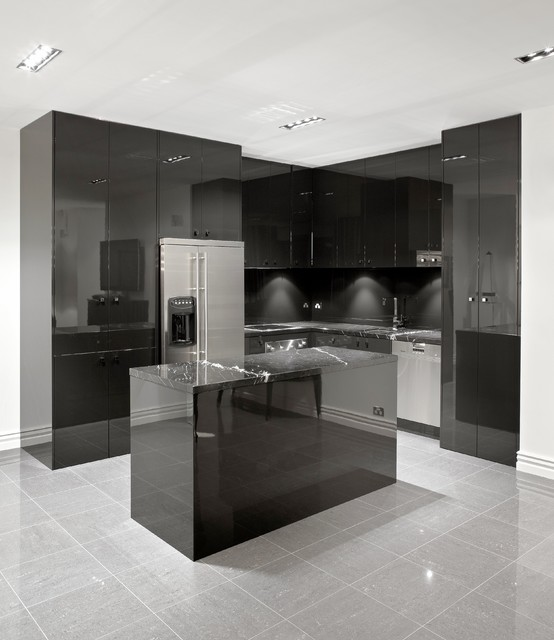 19 Elegant Dark Kitchen Design Ideas