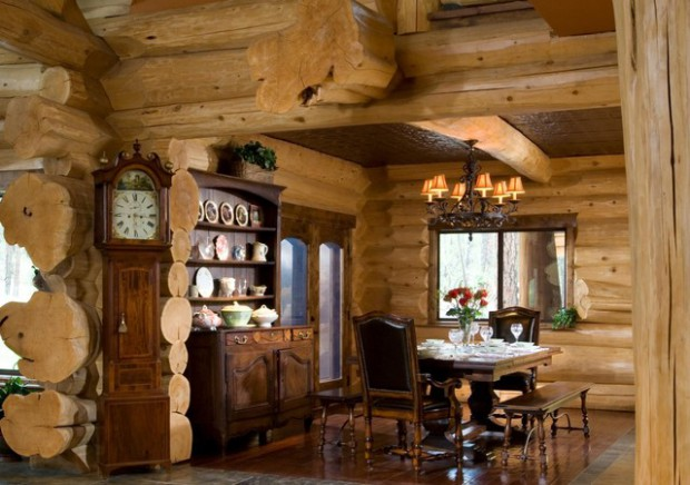 21 Rustic Log Cabin Interior Design Ideas Part 43