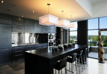 19 Elegant Dark Kitchen Design Ideas - kitchens, kitchen designs, kitchen design, kitchen, home design, home, Elegant, dark kitchens, dark kitchen, dark, black kitchens, black kitchen, Black
