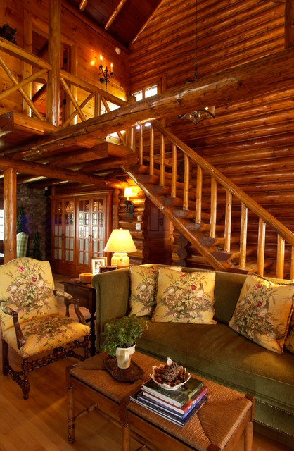 Amazing 21 Rustic Log Cabin Interior Design Ideas
