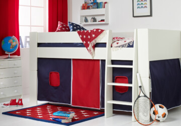 Design Guide for Durable Kids' Rooms - study and play, storage solutions, midsleeper bunks, kids room, home decor, changeable decor