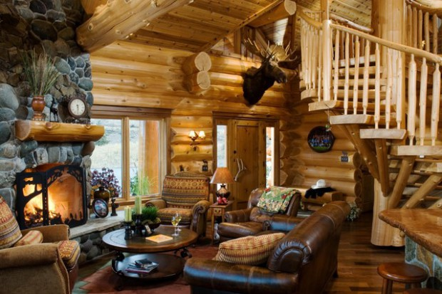 48 Rustic Log Cabin Interior Design Ideas Style Motivation Fascinating Log Homes Interior Designs Interior