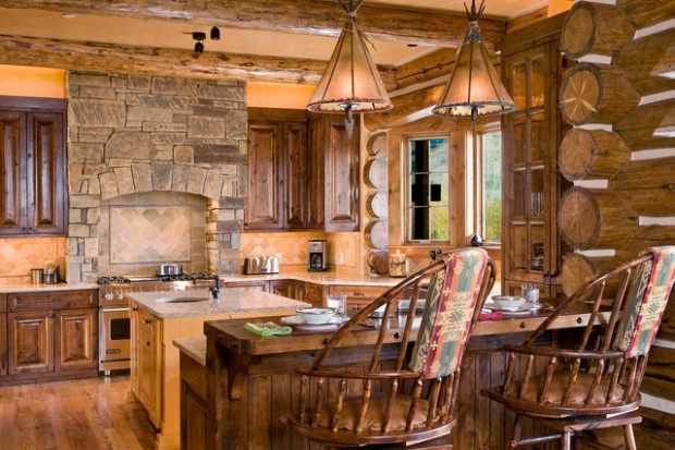 Elegant 21 Rustic Log Cabin Interior Design Ideas