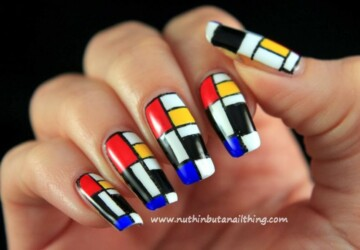 Abstract Nail Art Ideas- 20 Creative and Unique Nail Designs - unique nails, nail art ideas, creative nail art ideas, Abstract Nail Art Ideas