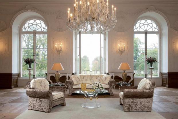Luxury Living Room Extension Designs Great Crystal Chandelier