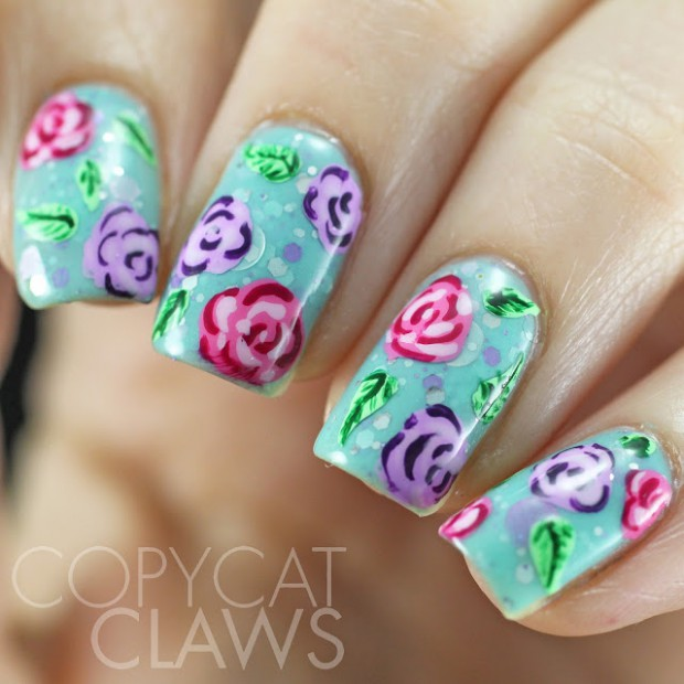 Roses on Your Nails- 16 Adorable Floral Nail Art Ideas - Style ...