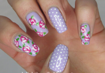 Roses on Your Nails- 16 Adorable Floral Nail Art Ideas - summer nail art, roses nail art, rose nail art, nail art ideas, floral nail art