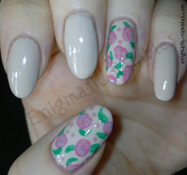 Roses on Your Nails  16 Adorable Floral Nail Art Ideas