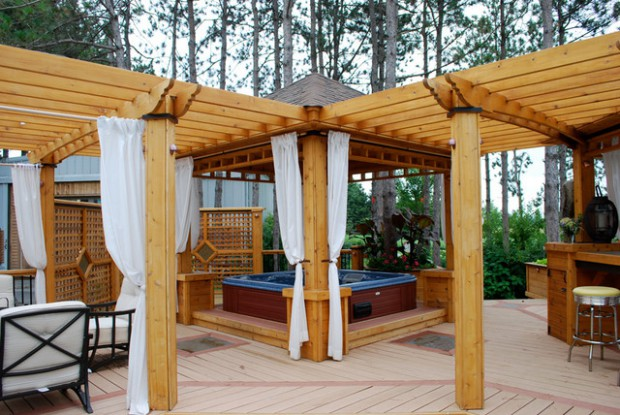A Piece Of Heaven In Your Backyard: 17 Pergola Curtain Decorating Ideas - A Piece Of Heaven In Your Backyard: 17 Pergola Curtain Decorating