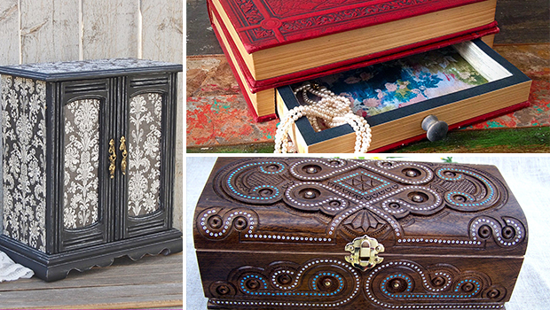 16 Unique Handmade Jewelry Box Designs For Elegant Jewelry