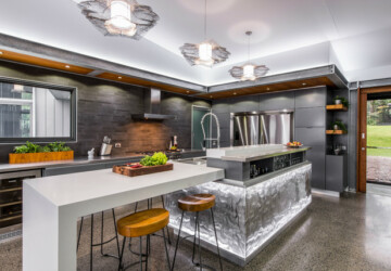 18 Outstanding Contemporary Kitchen Designs That Will Bring Out The Chef In You - tap, style, stool, sink, residence, oven, modern, minimalist, luxury, loft, kitchen, interior, house, home, fridge, flat, design, counter, contemporary, bar, architecture, appliances, apartment