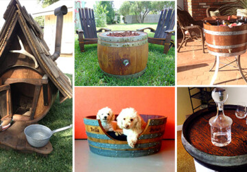 23 Genius Ideas To Repurpose Old Wine Barrels Into Cool Things - wood, wine, table, Storage, staves, stave, sink, reused, repurposed, recycled, rack, pit, Pet, outdoor, old, mirror, ice, house, hook, Homemade, handmade, handcrafted, glass, garden, furniture, fire, diy, decor, craft, Coffee, chest, chair, bench, bed, barrel