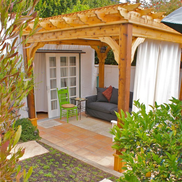 A piece of heaven in your backyard: 17 pergola curtain decorating ...