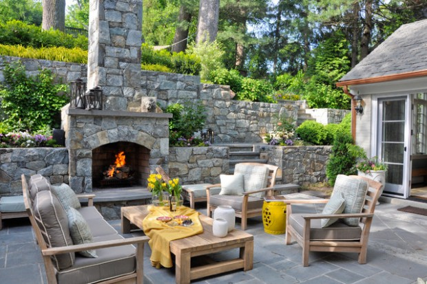 20 Cozy Outdoor Sitting Spaces Design Ideas