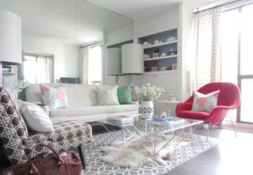20 Small-Space Design Ideas for Living Rooms - Small Living Room, small apartmant, organizing a small space, living room ideas, boho chic living room, beach style living room