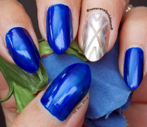16 Creative Nail Art Ideas With Silver Accent