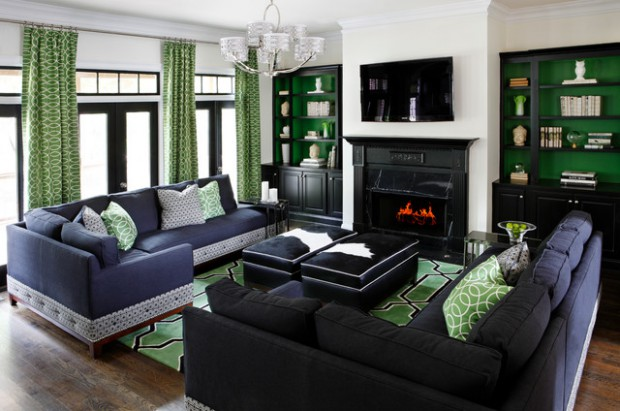 Green Accents for Artistic Home Decor