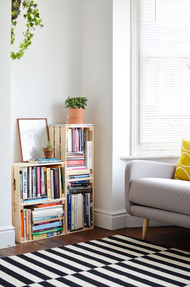 17 Awesome DIY Bookshelf Ideas and Projects