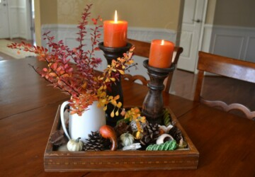 17 Beautiful DIY Fall Centerpieces - Projects, project, fall centerpiece, Fall, diy, crafts, craft, Centerpiece, autumn