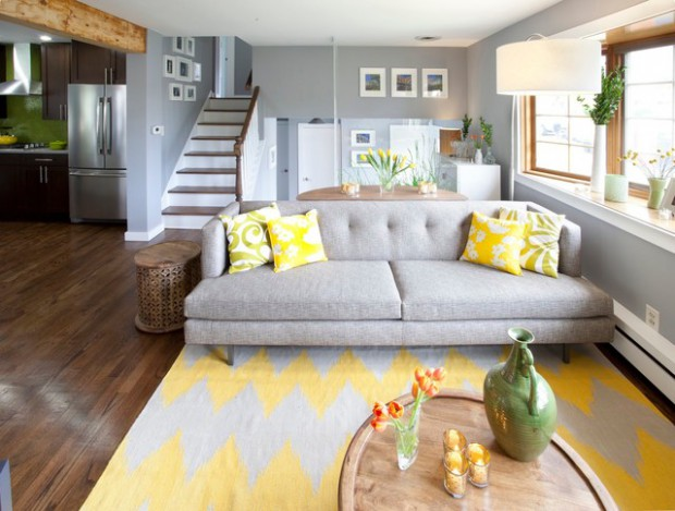 Elegant Sophistication 23 Grey And Yellow Home Decor Ideas