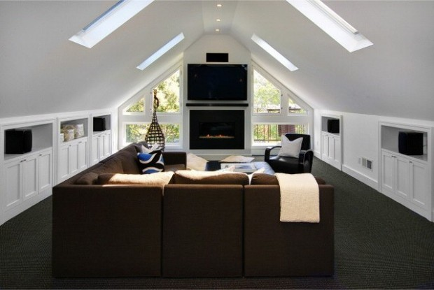 Amazing Ideas for Cozy Attic Family Room