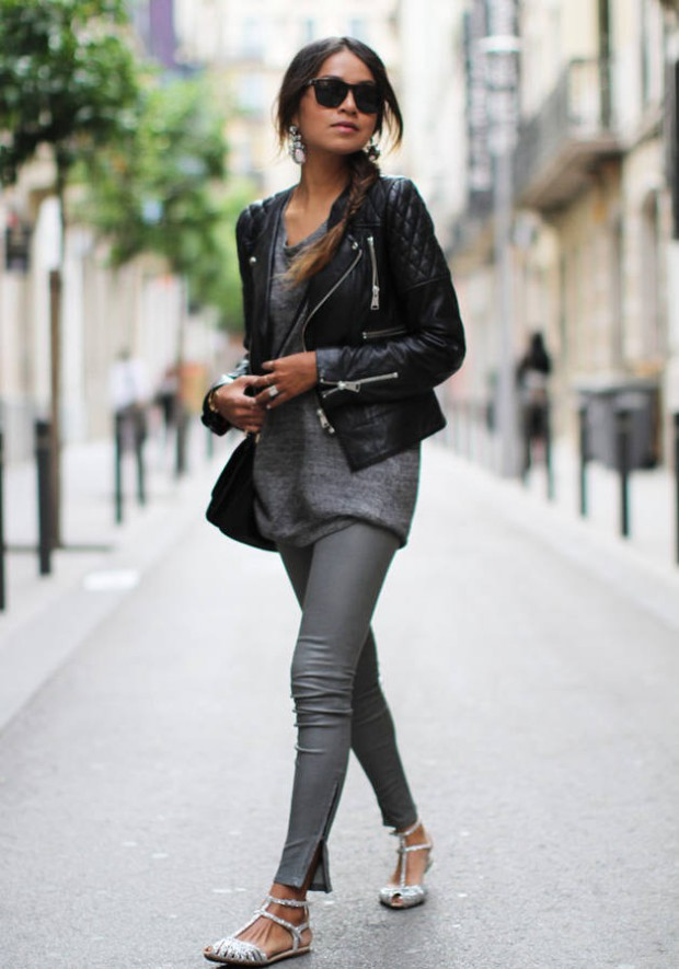 18 Stylish Ways To Wear Black Leather Jacked This Fall - Style Motivation