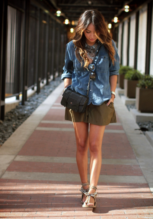 How to Wear a Denim Shirt in 20 Different Ways