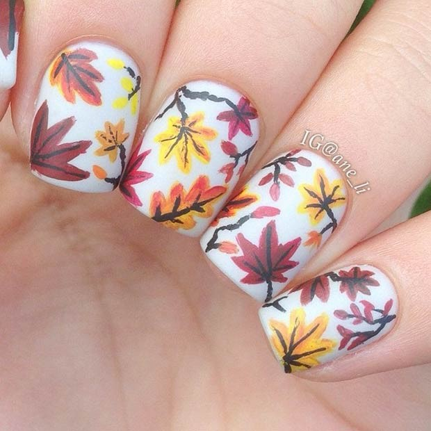 18 Creative Fall Nail Art Ideas You'll Love
