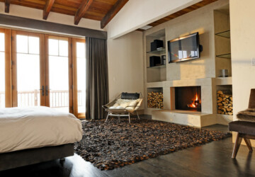 17 Impressive Master Bedrooms with Fireplaces - Master Bedroom, fireplace design idea, fireplace, bedroom fireplace, bedroom design ideas, bedroom