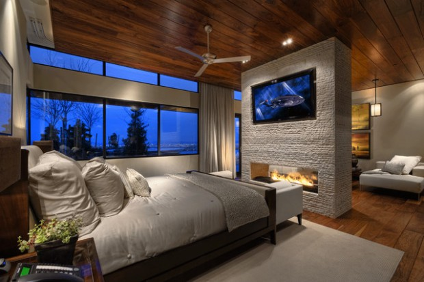 Delightful 17 Impressive Master Bedrooms With Fireplaces Part 6