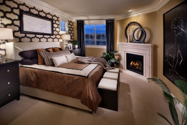 17 Impressive Master Bedrooms With Fireplaces Style Motivation