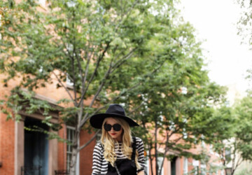 20 Stylish Ways to Wear Stripes from Now Through Fall - stripes outfit ideas, stripes outfit, Statement Stripes, fall stripes outfits, fall outfit ideas, black and white stripes