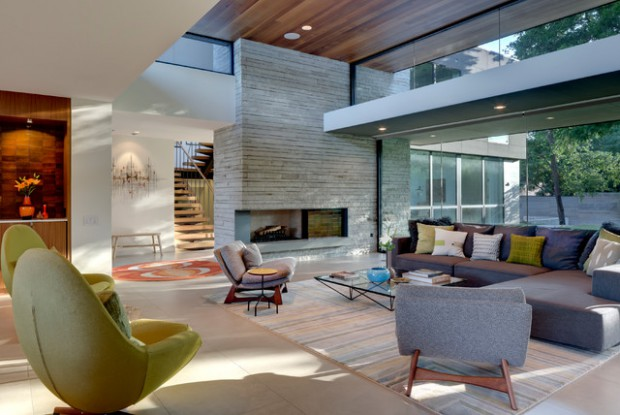 15 Glass Wall Living Room Ideas for All Nature Lovers