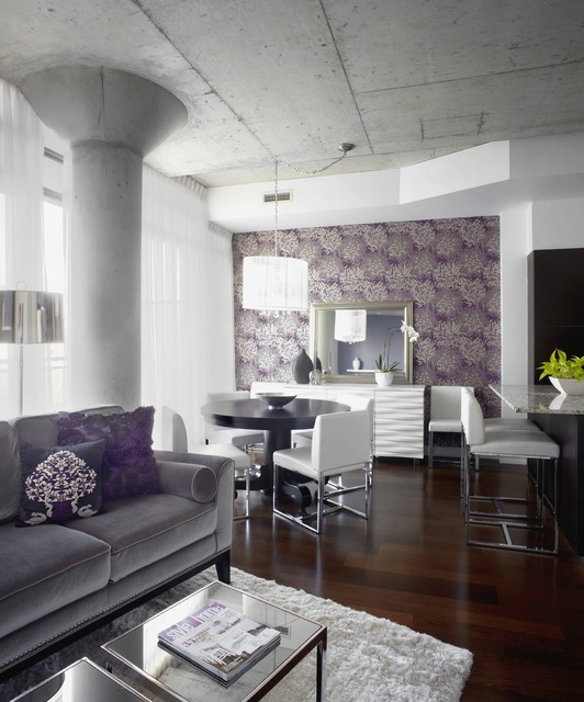 20 Purple Accents For Luxurious Living Room Decor