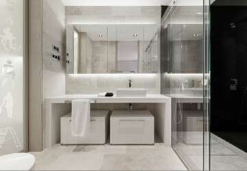10 Magnificent Bathroom Designs With Stunning Mirrors - tub, shower, room, residence, modern, mirrors, mirror, luxury, Lumino, loft, light, LED, interior, illuminated, house, home, glass, flat, design, contemporary, bathtub, bathroom, bath, apartment